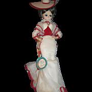 "Beautiful 20"" Vintage bradley Big Eye Cloth Doll Provenance Free P&I US Buyers"