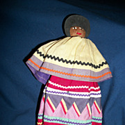 """Vintage Native American Indian 9"""" Seminole Indian Doll free p&I US buyers"""