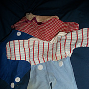"""2 Vintage 12""""  Raggedy Andy Knickerbocker outfits Free Postage and Insurance"""
