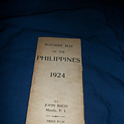1924 Tourist Map of Philippines by John Bach Free P&I