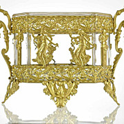 SOLD Antique French Empire Gilt Bronze Ormolu Crystal Jardiniere