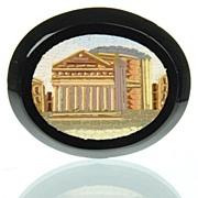 Antique Grand Tour Micromosaic Plaque Pantheon - Micro Mosaic