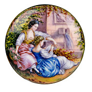 SOLD Antique French Limoges Enamel Box, Hand Painted, Artist Signed Gamet