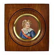 SOLD Antique French Portrait Miniature of Napoleon II - King of Rome