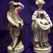 SALE Adorable Pair  Figurines by  Maruyama Occupied  Japan ,Ca 1940's