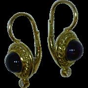 Amethyst Diamond 18 Karat Gold Earring Vintage Kathy Bates Collection