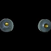 Pearl and Citrine Earrings 14 Karat Gold