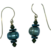 """Pearl Dangle Earrings """"Shades of Turquoise"""""""