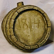 REDUCED War of 1812 Period Wood Canteen