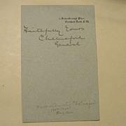 Autograph of Lord Chelmsford, Zulu War General