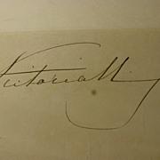Autograph of Queen Victoria