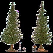 SOLD Christmas & Forever Evergreen 2ft. Trees with Velvet Tree Skirts