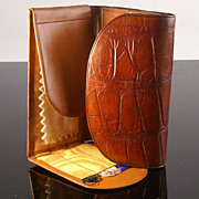 SOLD Delightful Crocodile Sewing Case by Drew & Sons