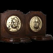 SOLD Antique Oak Bookends