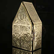SOLD Early 19th Century European Brass Reliquary  Box