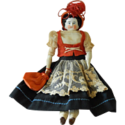 Adorable small antique china head doll
