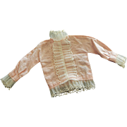 Tagged Ideal Tammy pink ruffle blouse