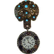 Gorgeous French doll watch pin