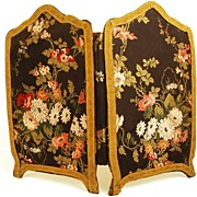 SOLD Antique Miniature Standing Screen
