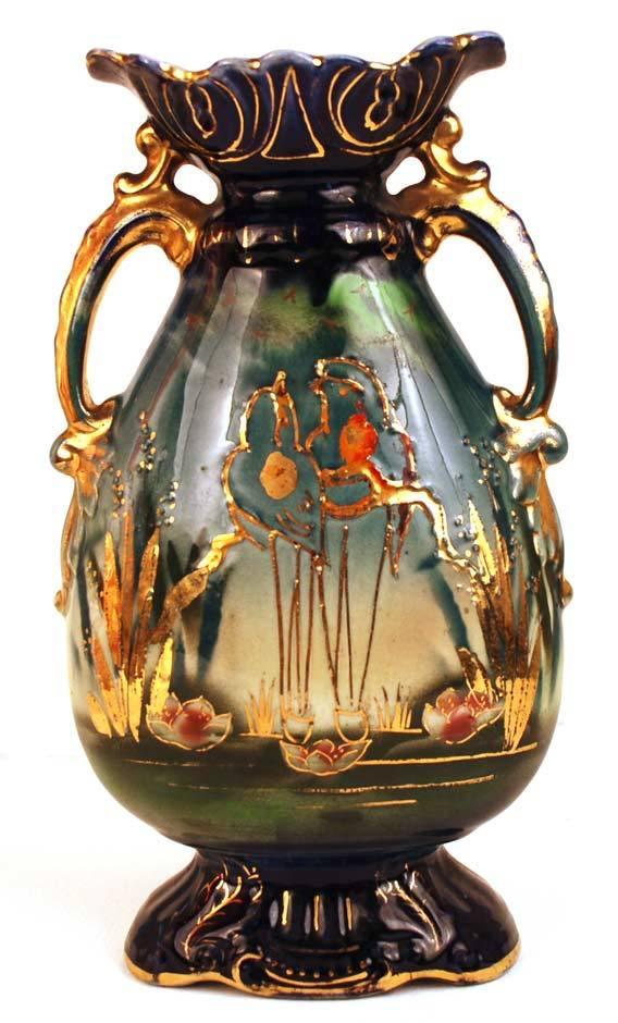 Antique Nineteenth Century English Art Pottery Vase