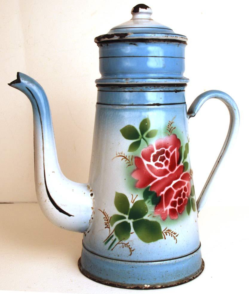 Vintage French Enamel Biggins Cafetiere