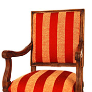 SOLD Miniature Wooden French Fauteuil (Chair)
