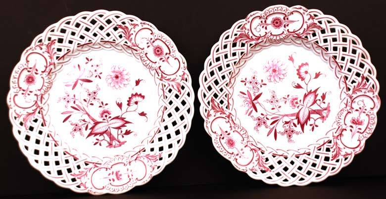 Pair of  Meissen Porcelain Plates