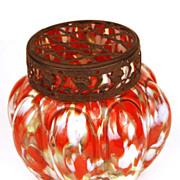 Antique French Hand Blown Art Glass Flower Vase