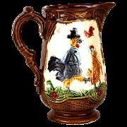 SOLD Unusual Antique Majolica Pichet/Pitcher