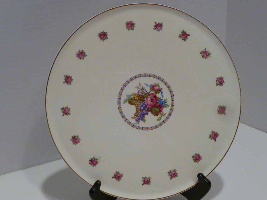 Vintage Erphila Art Pottery Dessert Platter Cake Plate ...