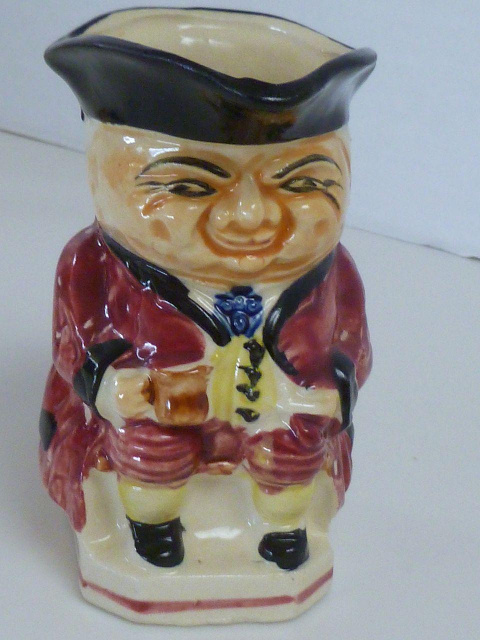 Vintage Ceramic Toby Character Creamer Pitcher Japan