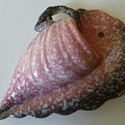 1952 Hull Art Pottery Woodland Seashell Design Wall Pocket Vase