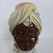 Royal Copley Blackamoor Head Vase Wall Pocket