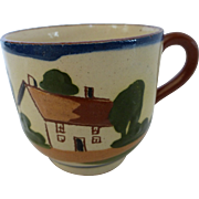 Torquay Pottery Motto Ware Demitasse Cup