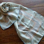 Vintage Vidal Sassoon Signed Silk Scarf