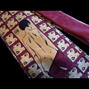 SOLD Rare Guido Crepax Valentina Silk Art Necktie by Tino Cojura Italy