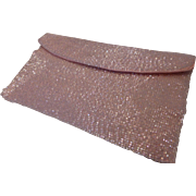 Richere Bag by Walborg Pink Beaded Envelope Clutch Purse