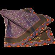 Vintage Thai Silk Scarf by Vanzon Singthong