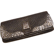 Antique Bigelow & Kennard Leather & Sterling Silver Purse Wallet