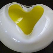SOLD Fabulous Bio-Morphic Murano Glass Sommerso Bowl