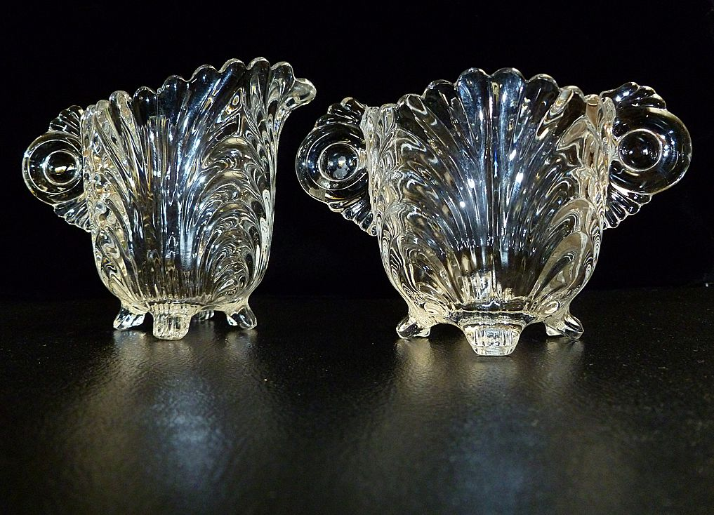 cambridge glass co caprice sugar and creamer set from. Black Bedroom Furniture Sets. Home Design Ideas