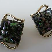 Vintage Coro Confetti Lucite Earrings