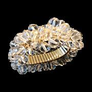 Vintage Clear Lucite Bubble Cha Cha Expansion Bracelet