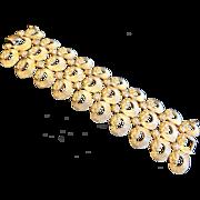 Huge Signed Monet Gold Tone Bracelet