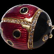 Vintage Multilana New York Ladybug Brooch