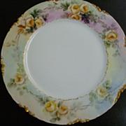 Antique Haviland Limoges H & CO  L France Cabinet Plate Signed A. Brown