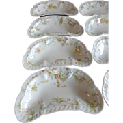 SOLD French Haviland Limoges Bone Dishes Princess Pattern (Set of 7)