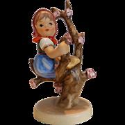 "Vintage Hummel Figurine ""Apple Tree Girl"" #141, Stylized Bee W. Germany"