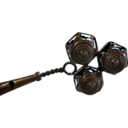 Victorian Baby Rattle with Whistle