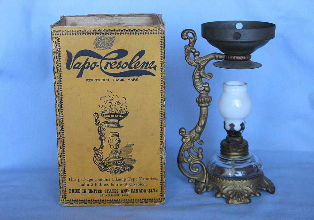 The Cresolene Vaporizer w Box And Instructions